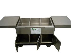 Bain Marie 3x 1/1 GN - 200, 230 V, 2 kW, Platzbedarf: 2,30 m