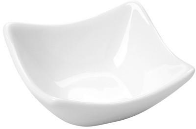 Schale, eckig, klein Saxo, weiß, 7,5 x 7,5 cm, 50 ml, Fingerfood