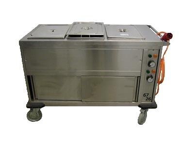 Bain Marie, 3x 1/1 GN, beheizter Unterbau, 400 V, 3 kW, 4,5 A, 16 CEE
