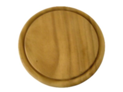 Holzteller, mit Saftrinne, Ø 25 cm