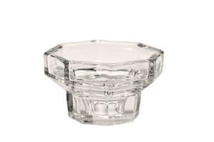 Kerzenständer, Glas, 8- eckig, h: 4,5 cm, (mit Endreinigung)