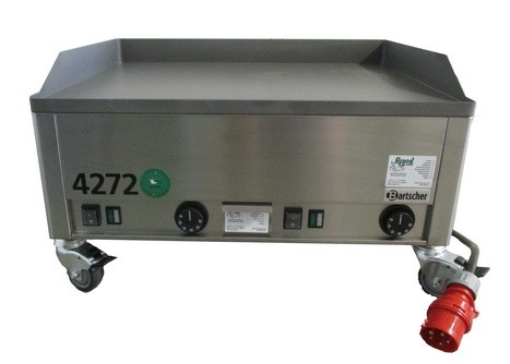 Tisch- Elektro- Grillplatte, ca. 65 x 50 cm, 400 V, 6 kW, 9 A, 16 CEE