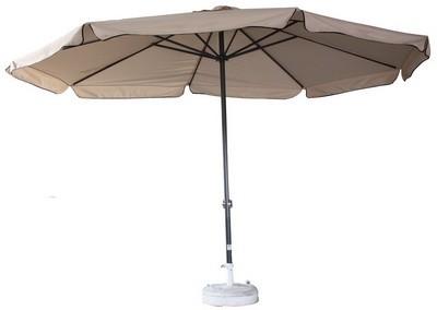 Sonnenschirm, mit Alugestell, hellbraun, Ø 400 cm, h: 280 cm