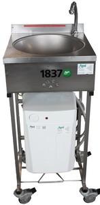 Handwaschbecken, Fußschalter, (Küche), 10 lt. Speicher, 230 V, 2 kW