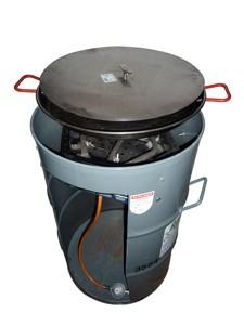 Gas- Maronibrater, mit Pfanne und Deckel, 4300 W Brenner, ohne Gas
