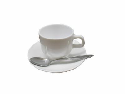 Kaffeetasse (mit Untertasse und Löfferl)