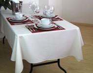 Tischtuch, eckig, weiß, ca. 140 x 180 cm, Baumwolle, hochwertige Qualität