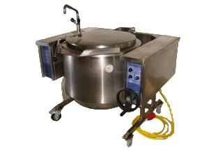 Suppen- Kipp- Kessel, 100 lt., 400 V, 22 kW, 33 A, 32 CEE