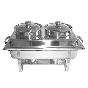 Suppen- Einsatz für Chafing- Dish, 2 x 4,2 lt., bestehend aus: