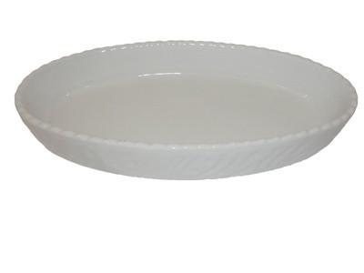 Backform, Plarusse, Porzellan, oval, weiß, 32 x 18 cm