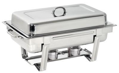 Chafing- Dish, (Spring), 1/1 GN, samt E- Heizplatte, (inkl. GN- Einsatz)