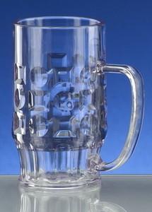 Bierglas, Kunststoff, bruchfest, 1/2 lt., mit Endreinigung