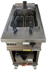 Stand- Fritteuse einfach, ca. 17 lt., 400 V, 15 kW, 21 A, 32 CEE