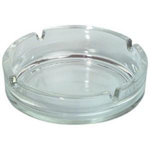 Aschenbecher, Glas, 4 Einschnitte