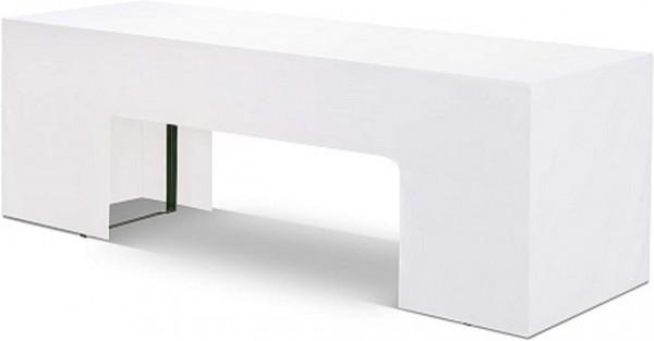 Hussen für Bierbank, weiß, 200 x 25 cm