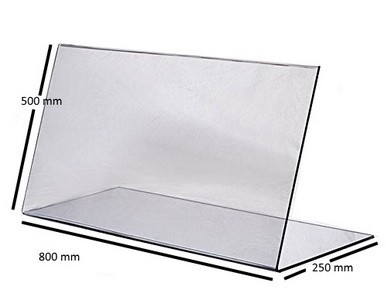 Spuckschutz 500 x 250 – 800 mm