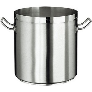 Kochtopf, CrNi- Stahl, ca. 80 lt., ohne Deckel