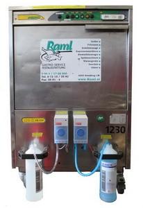 Gläserspüler, samt Unterbau und integrierter Abwasser- und Spülmittelpumpe