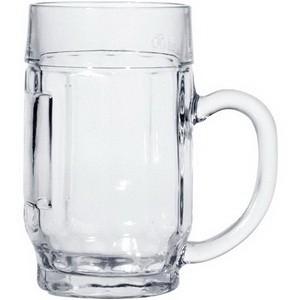 Bierkrug, 0,5 lt., Glas