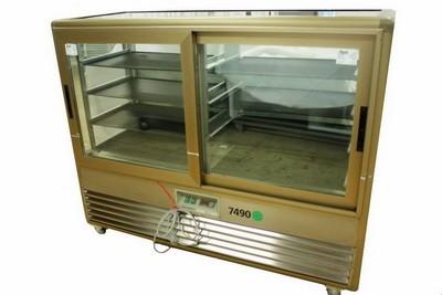 Kühlvitrine, 4 Etagen, b: 1,5 m, Schienenabstand 15 cm, 230 V, 700 W