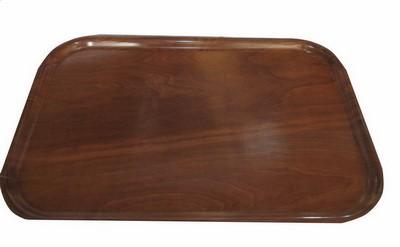 Servier- Tablett, Pressholz, ca. 75 x 48 cm