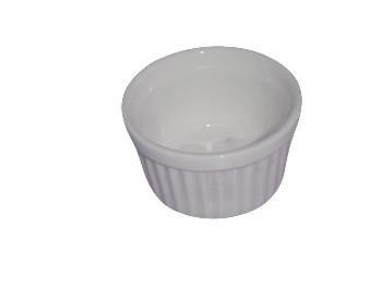 Pastetennäpfchen, (Kokotten), weiß, Ø 6 cm